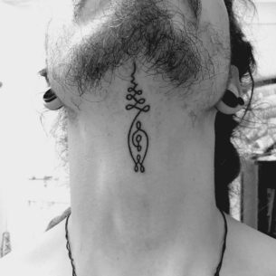Cool Under Chin Tattoo