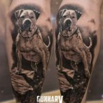 Dog Memorial Tattoo