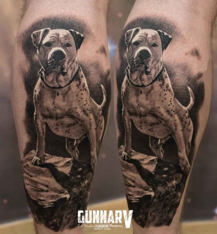 realistic dog tattoo memorial