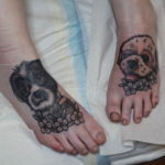 Dog Tattoos on Feet