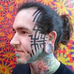 Dotwork Face Tattoo