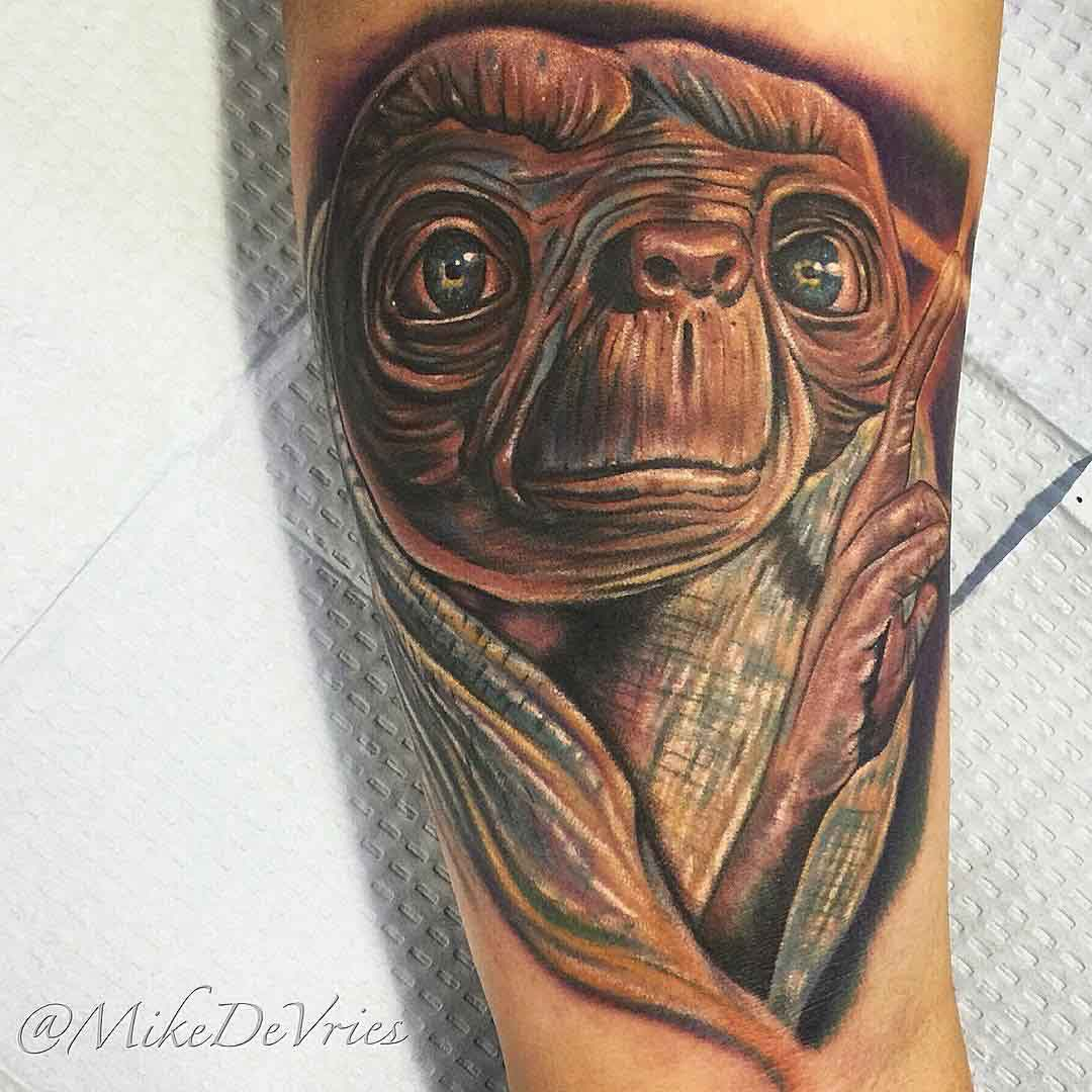 movie tattoo potrait E.T.