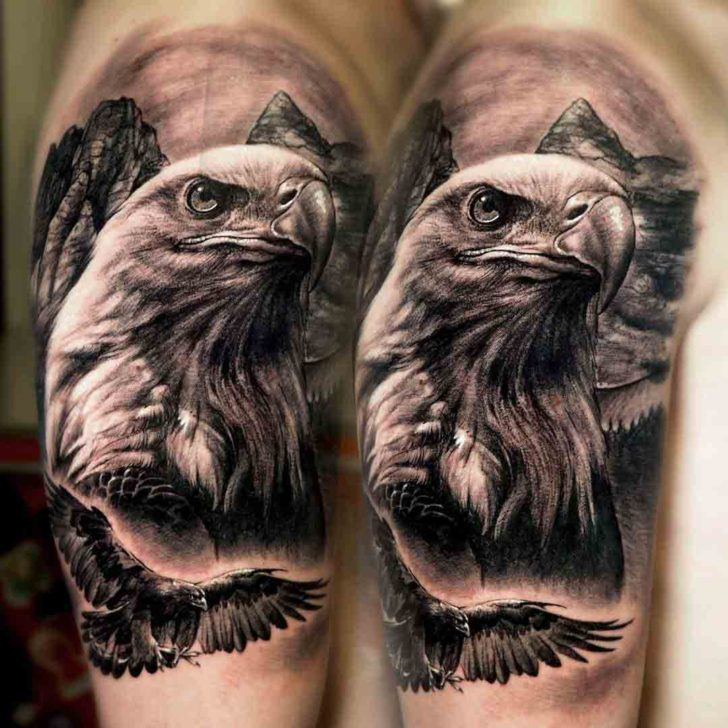 shoulder tattoo eagle