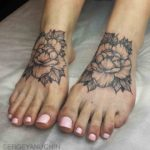 Flower Tattoos on Feet