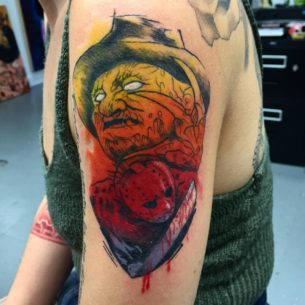 Freddy vs Jason tattoo