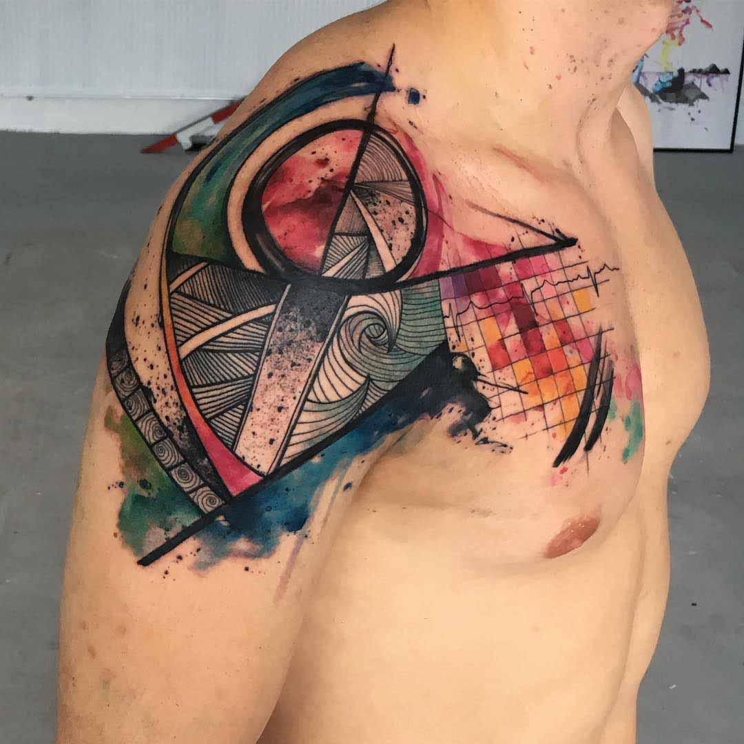 freehand tattoo on shoulder