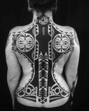 Full Back Maori Tattoo