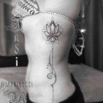 Geometry Floral Tattoo