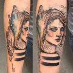 mautical sailor girl tattoo