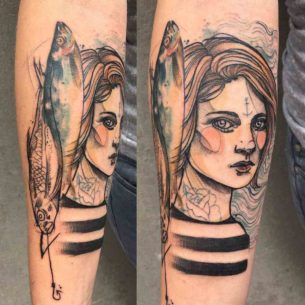 Girl Sailor Tattoo