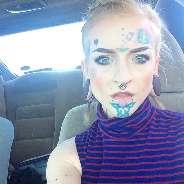 Girl With Chin Tattoo by huma.noid
