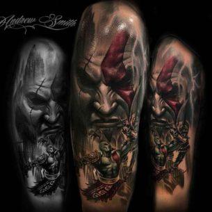 God of War Tattoo on Shoulder