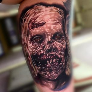Bicycle zombie from the walking dead