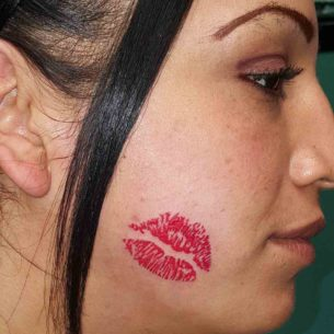 Kiss Lips Tattoo