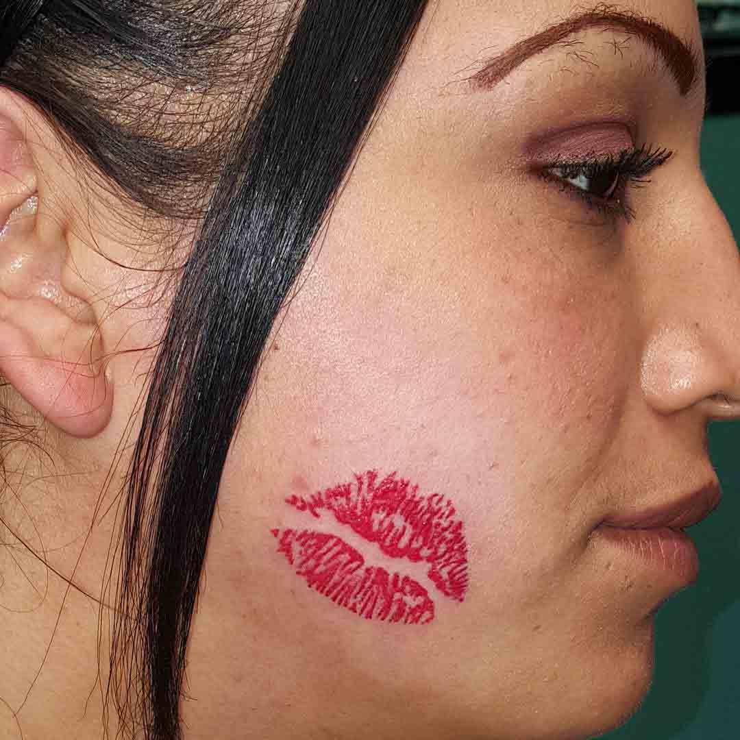 Kiss Lips Tattoo by George Cortez