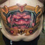 Krang Tattoo on Belly