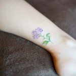 ankle tattoo lilac flower