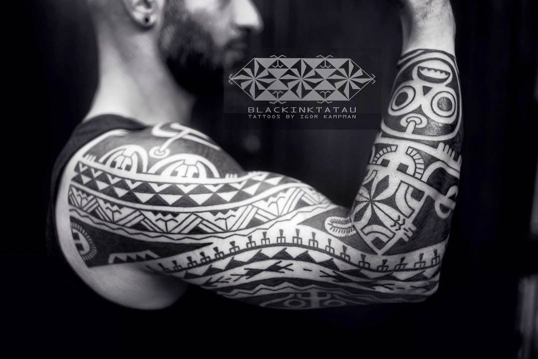 Maori Sleeve Tattoo Designs by Igor Kampman