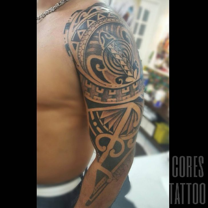 Maori Tattoo Designs Shoulder by Cores Tattoo