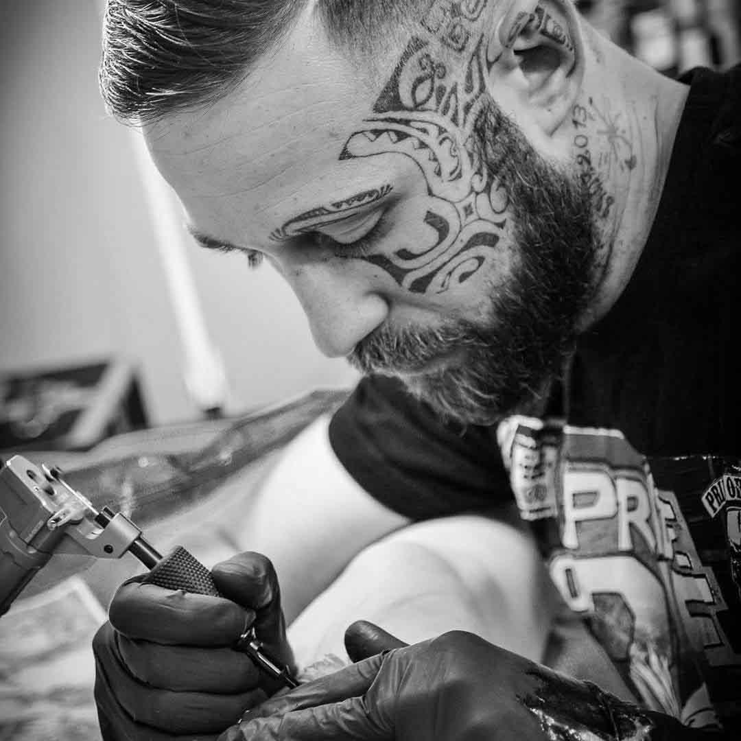 Maori Tattoo Face by Allan Anas
