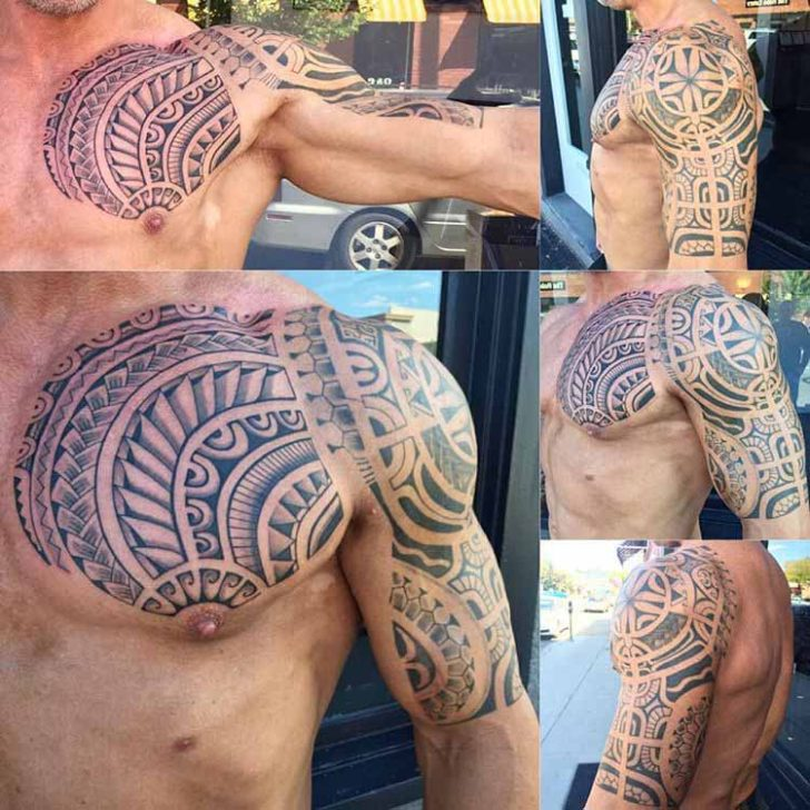 Maori Tattoo Half Sleeve by Taututattoo