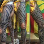 Maori Tattoo Leg