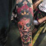 Maple Santa Muerte Tattoo on Arm