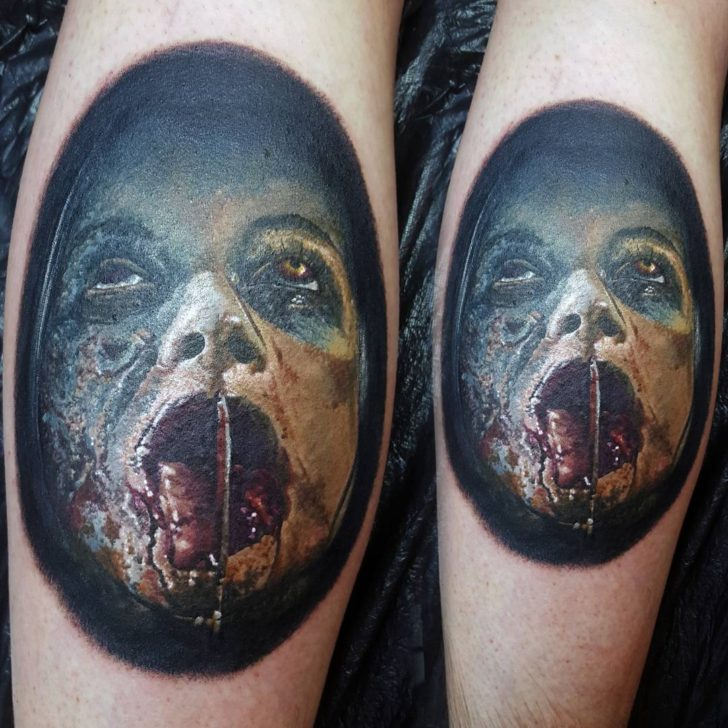 Mia from the 2013 Evil Dead remake. Was a really cool piece to do and tried a lot of new things on this one by Alan Aldred