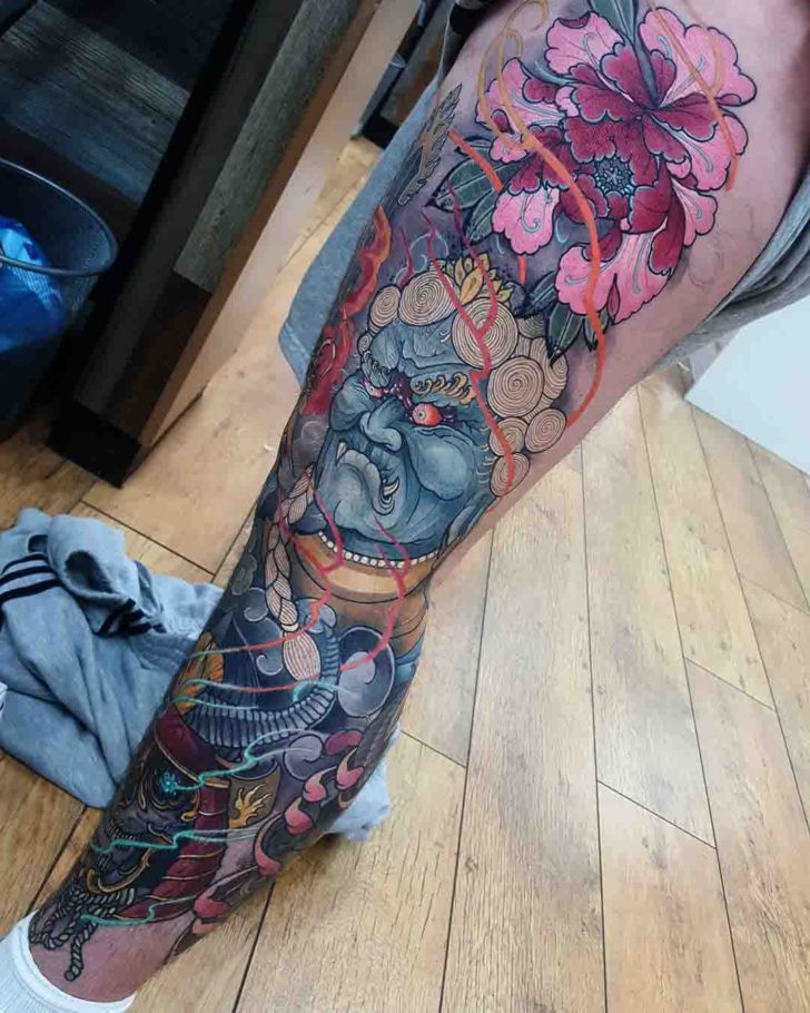 neo japanese tattoo on leg best tattoo ideas gallery