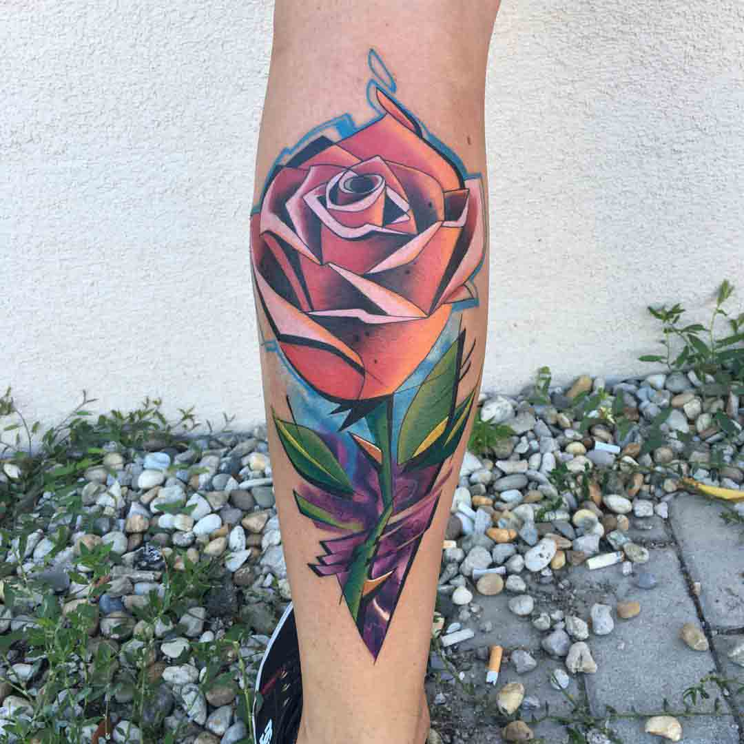 new school rose with shapr edges