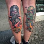 New School Star Wars Tattoos on Calves