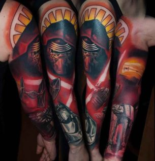 New Star Wars Tattoo Sleeve