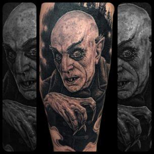 Nosferatu (Max Schreck) tattoo
