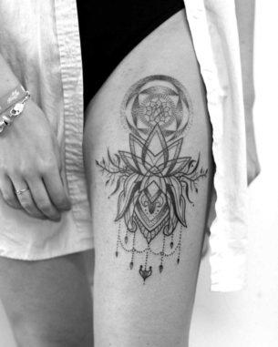 Om Lotus Tattoo