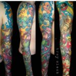 full sleeve pokemon tattoo