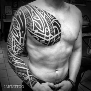 Polynesian Tattoo Sleeve