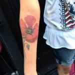 Poppy Cross Stitch Tattoo