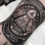dollar pyramid with eye tattoo