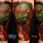 Realistic Raphael Tattoo
