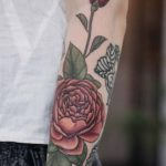 roses tattoo on arm