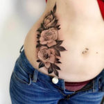 Rose Tattoo on Stomach