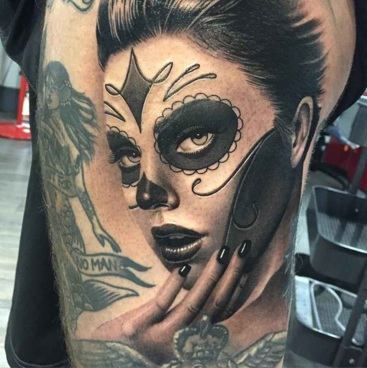 santa muerte girl tattoo best tattoo ideas gallery. Black Bedroom Furniture Sets. Home Design Ideas