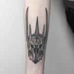 Sauron Helmet Tattoo