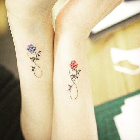 Sister Flower Tattoos