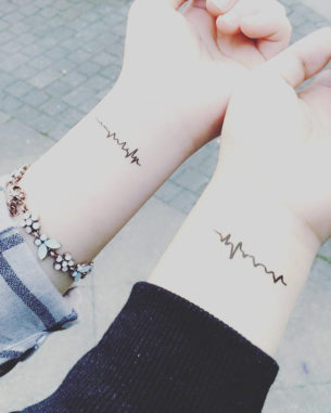 Sister Tattoos on Wrist