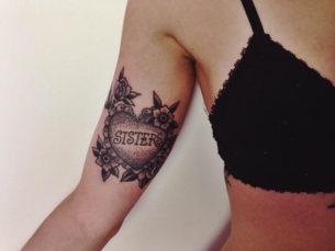 Sisters Heart Tattoo