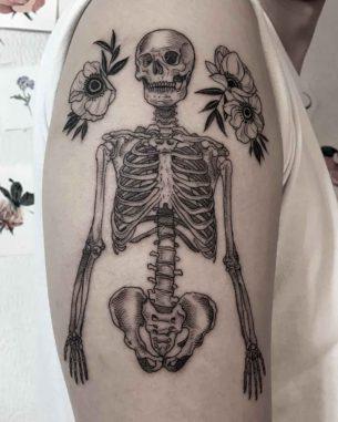 Skeleton Tattoo on Shoulder