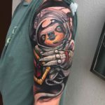 Sloth Astronaut Tattoo
