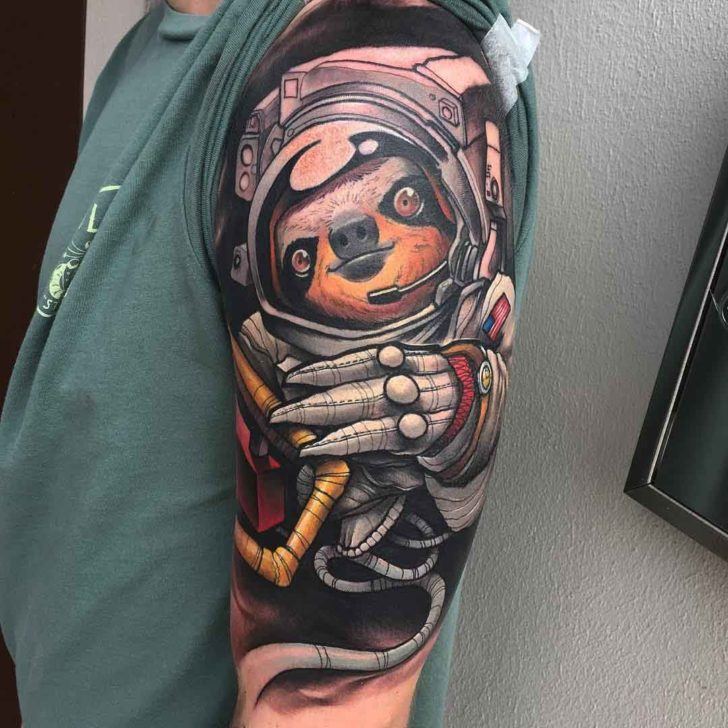 sloth astronaut tattoo best tattoo ideas gallery. Black Bedroom Furniture Sets. Home Design Ideas
