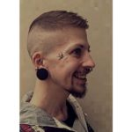 Small Swallow Tattoo on Face by piercer_oli